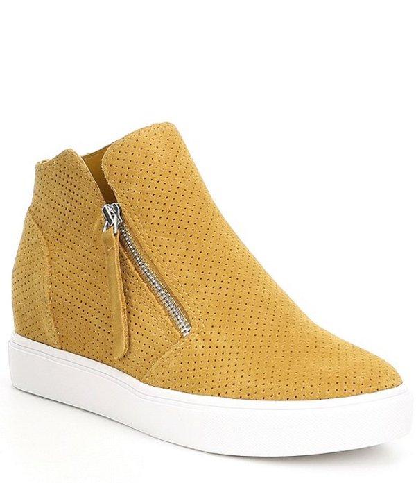 スティーブ マデン レディース スニーカー シューズ Caliber Wedge Sneakers Mustard Suede