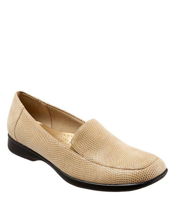 トロッターズ レディース パンプス シューズ Jenn Mini Dot-Print Suede & Patent Leather Loafers Nude