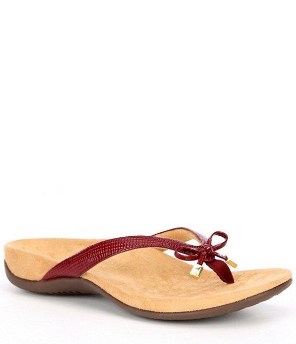 バイオニック レディース サンダル シューズ Bella II Lizard Print Thong Sandals Fig