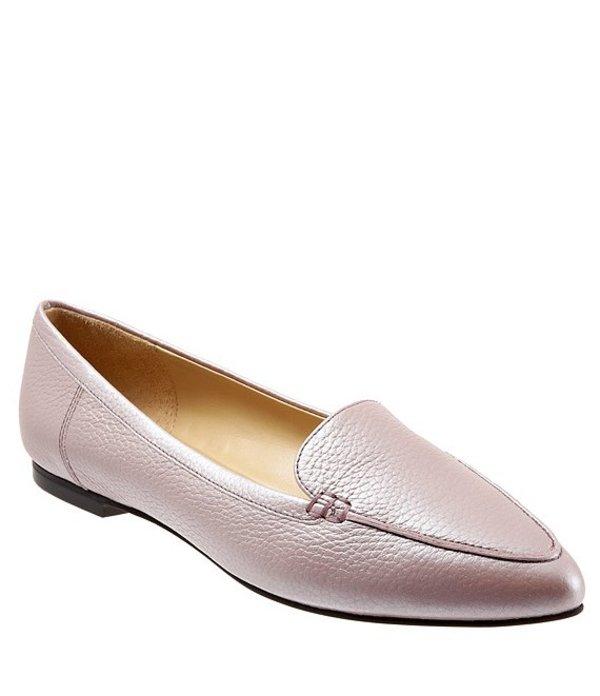 トロッターズ レディース スリッポン・ローファー シューズ Ember Pearlized Leather Loafers Blush