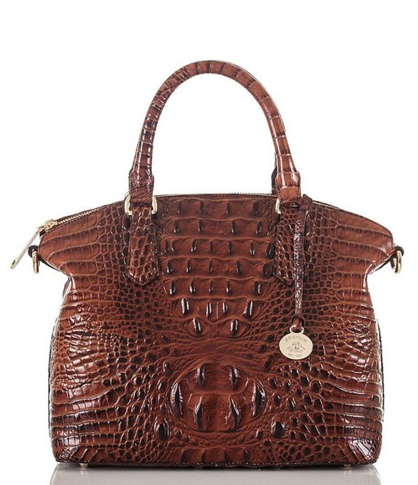 ブランミン レディース ハンドバッグ バッグ Melbourne Collection Duxbury Crocodile-Embossed Satchel Pecan