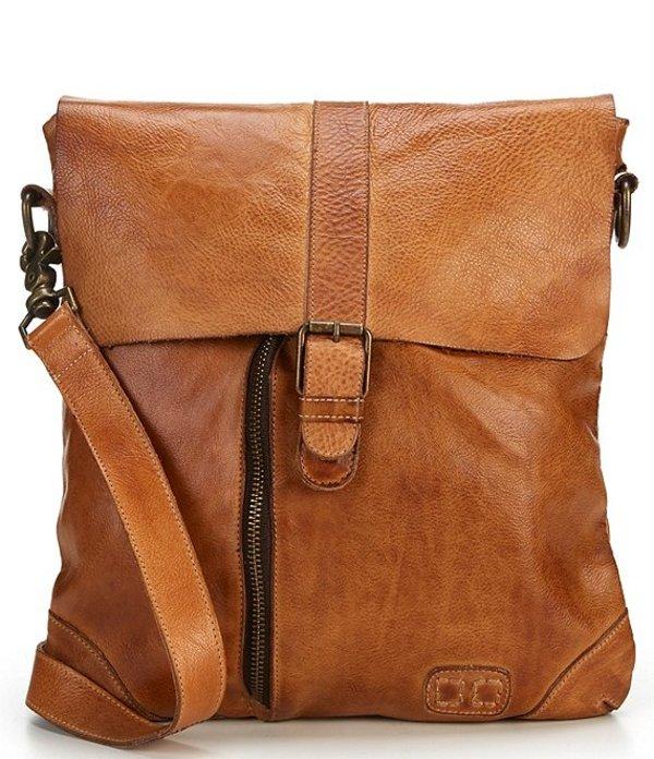 ベッドステュ レディース ショルダーバッグ バッグ Jack Distressed Leather Crossbody Tan Rustic