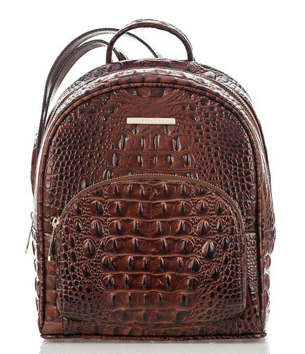 ブランミン レディース バックパック・リュックサック バッグ Melbourne Collection Mini Dartmouth Crocodile-Embossed Backpack Pecan