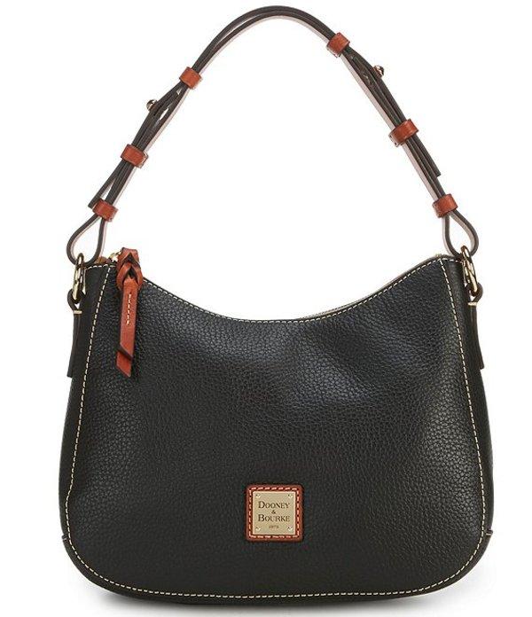 ドーネイアンドバーク レディース ショルダーバッグ バッグ Pebble Collection Small Kiley Zip Top Hobo Bag Black