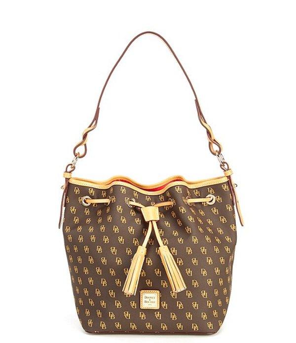 ドーネイアンドバーク レディース ショルダーバッグ バッグ Blakely Collection Tasha Logo Drawstring Bag Brown