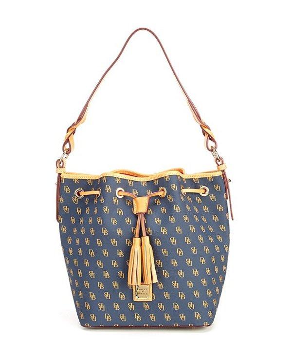 ドーネイアンドバーク レディース ショルダーバッグ バッグ Blakely Collection Tasha Logo Drawstring Bag Navy