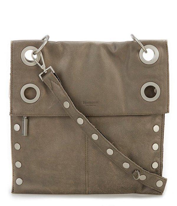 ハミット レディース ショルダーバッグ バッグ Montana Reversible Zip Crossbody Black/Pewter/Silver