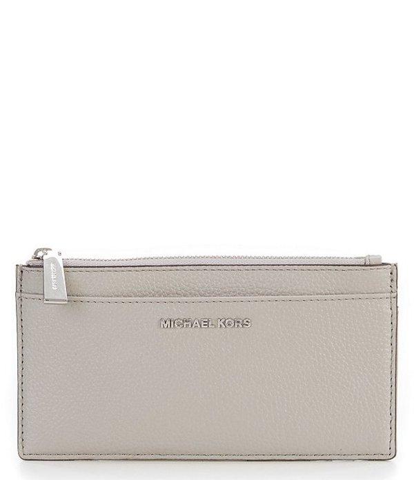 マイケルコース レディース ハンドバッグ バッグ Large Leather Slim Card Case Pearl Grey