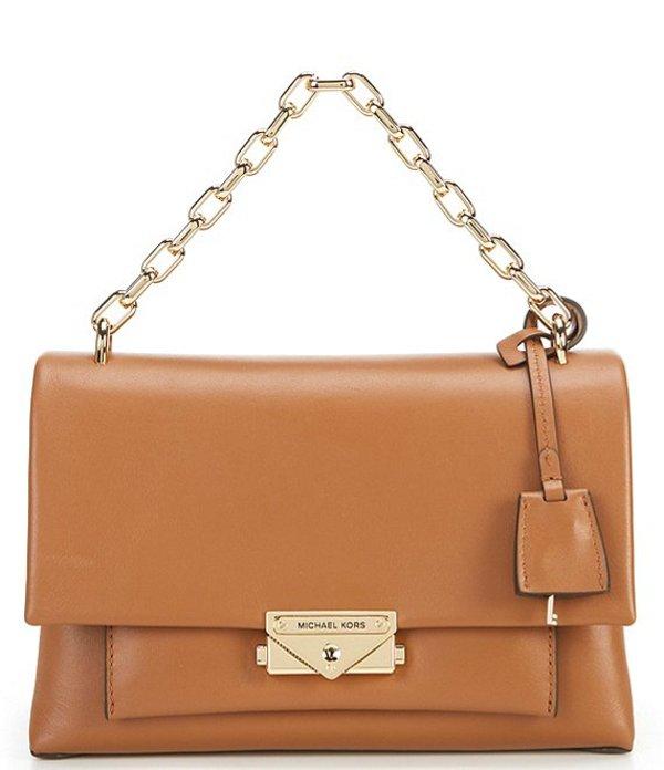 マイケルコース レディース ハンドバッグ バッグ Cece Medium Chain Push Lock Shoulder Bag Acorn