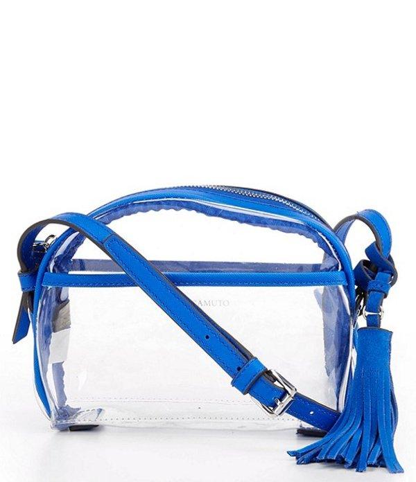 ヴィンスカムート レディース ショルダーバッグ バッグ Aryna Clear Mini Tassel Crossbody Blue