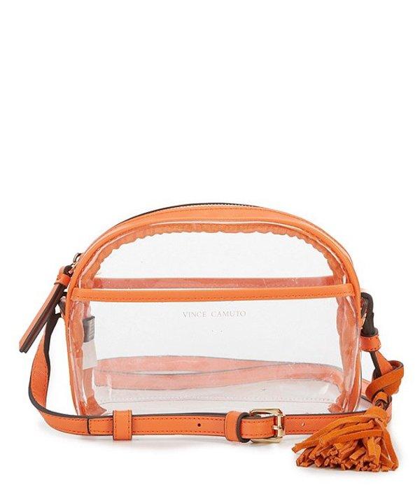 ヴィンスカムート レディース ショルダーバッグ バッグ Aryna Clear Mini Tassel Crossbody Orange