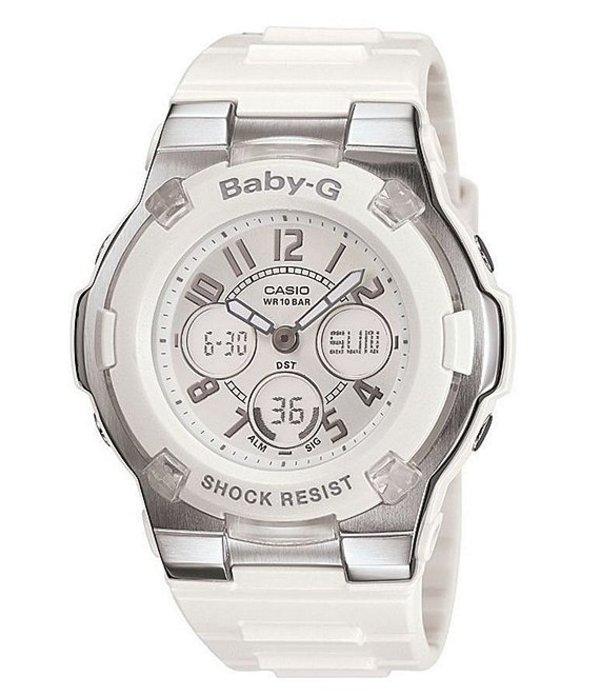 ベビージー レディース 腕時計 アクセサリー White Resin Rhinestone Ana-Digi Multifunction Worldtime Watch White