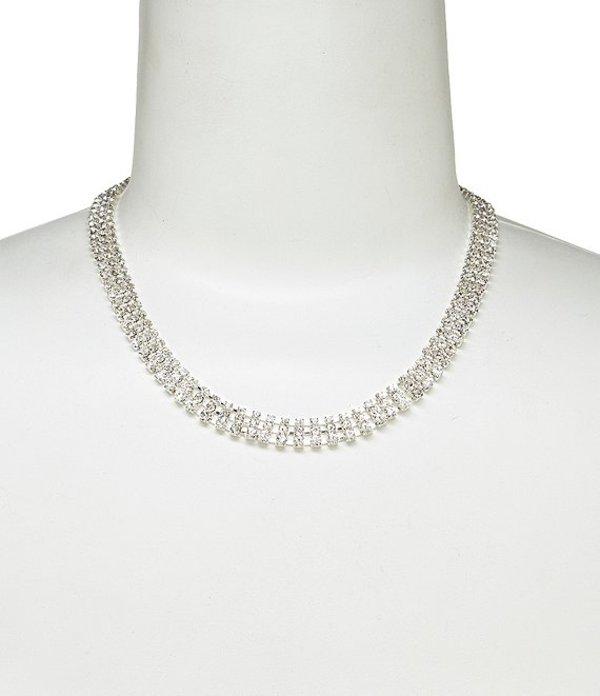 セザンヌ レディース ネックレス・チョーカー アクセサリー Rhinestone Collar Necklace Silver