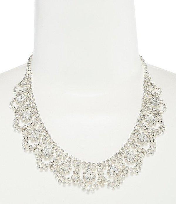 セザンヌ レディース ネックレス・チョーカー アクセサリー Rhinestone Weave Frontal Necklace Silver
