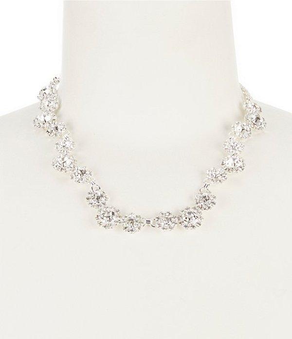 セザンヌ レディース ネックレス・チョーカー アクセサリー Rhinestone Daisy Collar Necklace Silver/Montana Crystal