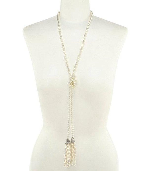 ベルバッジリーミシュカ レディース ネックレス・チョーカー アクセサリー Faux-Pearl Tassel Necklace Silver/Pearl