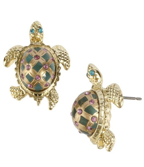 ベッツィジョンソン レディース ピアス・イヤリング アクセサリー Turtle Stud Earrings Green