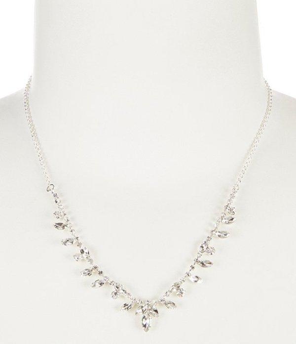セザンヌ レディース ネックレス・チョーカー アクセサリー Points Rhinestone Frontal Necklace Silver/Crystal