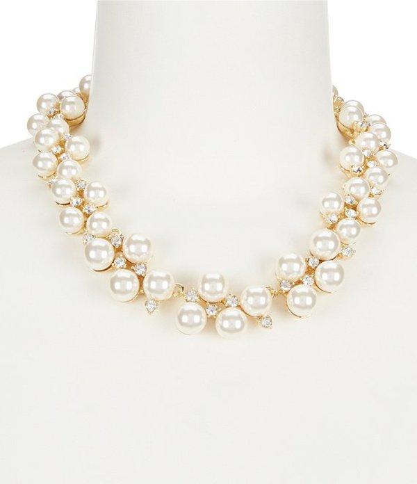 アンクライン レディース ネックレス・チョーカー アクセサリー Faux-Pearl Collar Statement Necklace Gold/Pearl
