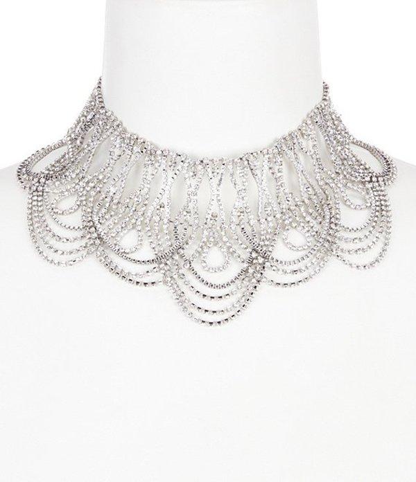 ベルバッジリーミシュカ レディース ネックレス・チョーカー アクセサリー Mata Hari Statement Choker Necklace Silver/Crystal