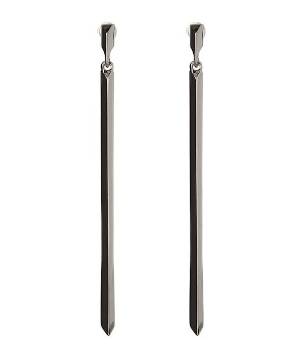 BCBジェネレーション レディース ピアス・イヤリング アクセサリー BCBG Linear Bar Earring Silver