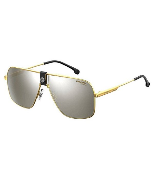 カレーナ メンズ サングラス・アイウェア アクセサリー Logo Navigator Sunglasses Gold/Black