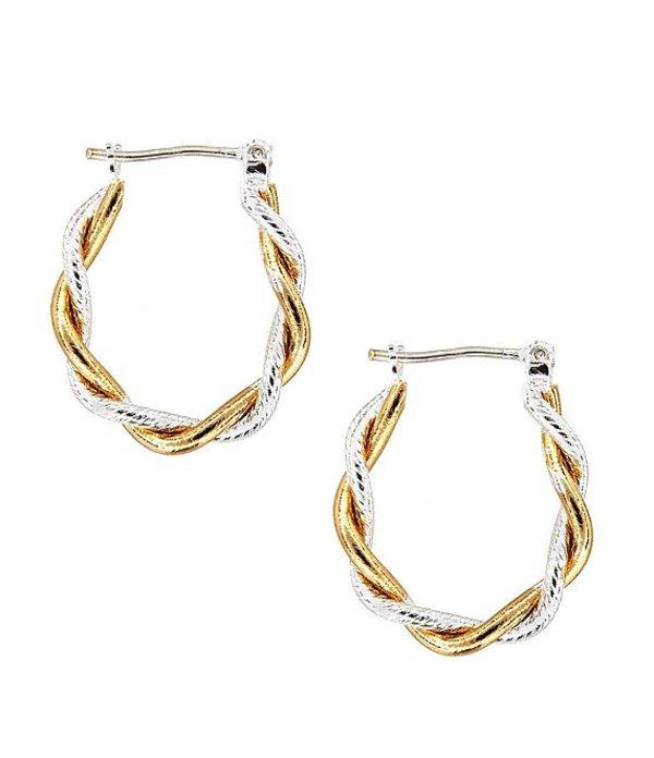 ディラーズ レディース ピアス・イヤリング アクセサリー Tailored Two-Tone Hoop Earrings Gold