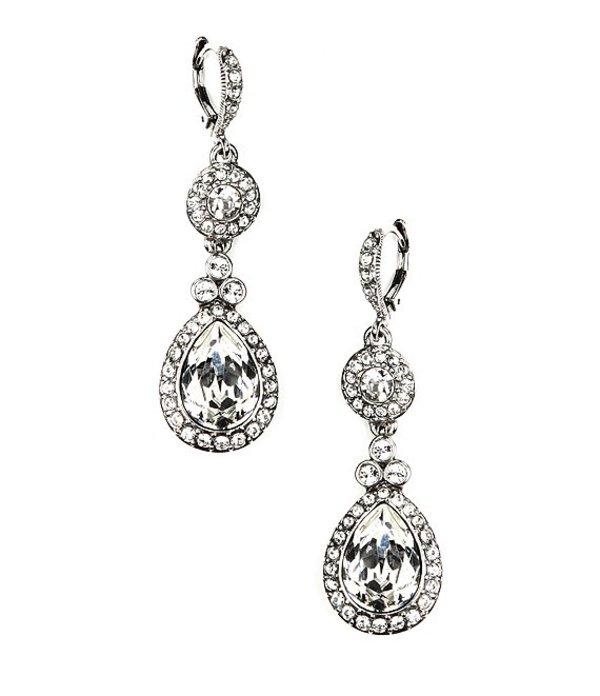 ジバンシー レディース ピアス・イヤリング アクセサリー Crystal Drop Earrings Clear