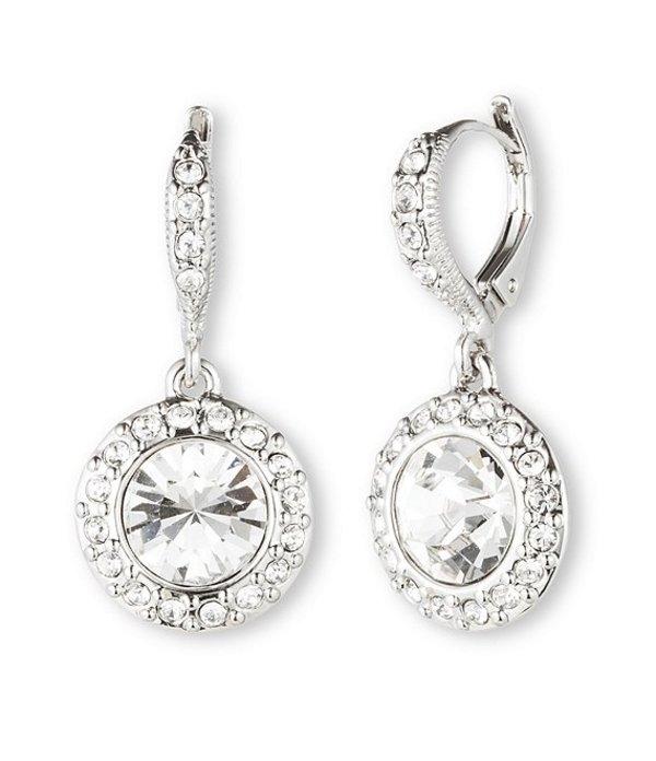 ジバンシー レディース ピアス・イヤリング アクセサリー Crystal Round Drop Earrings Silver/Crystal
