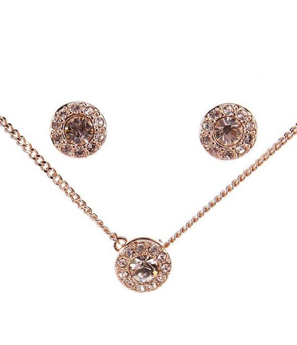 ジバンシー レディース ネックレス・チョーカー アクセサリー Rose Gold & Pave Necklace & Earrings Set Rose Gold
