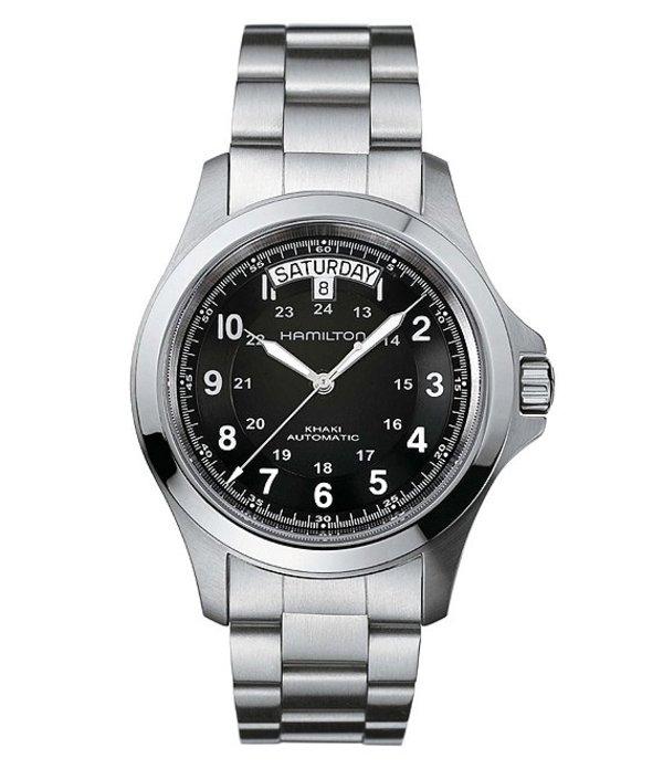 ハミルトン メンズ 腕時計 アクセサリー Khaki King Automatic Bracelet Watch Silver/Black