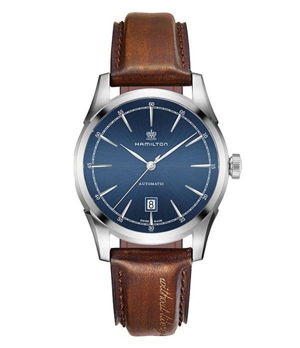 ハミルトン メンズ 腕時計 アクセサリー Spirit of Liberty watch Brown