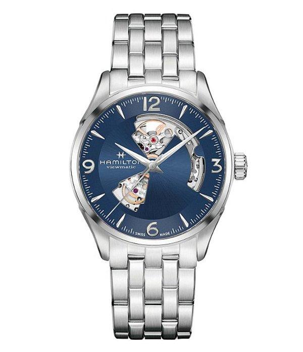 ハミルトン メンズ 腕時計 アクセサリー Jazzmaster Open Heart Automatic Bracelet Watch Blue