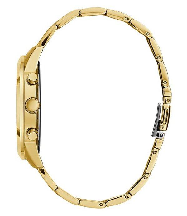 ゲス メンズ ブレスレット・バングル・アンクレット アクセサリー Solar Multifunction Bracelet Watch GoldxtQdrshCB