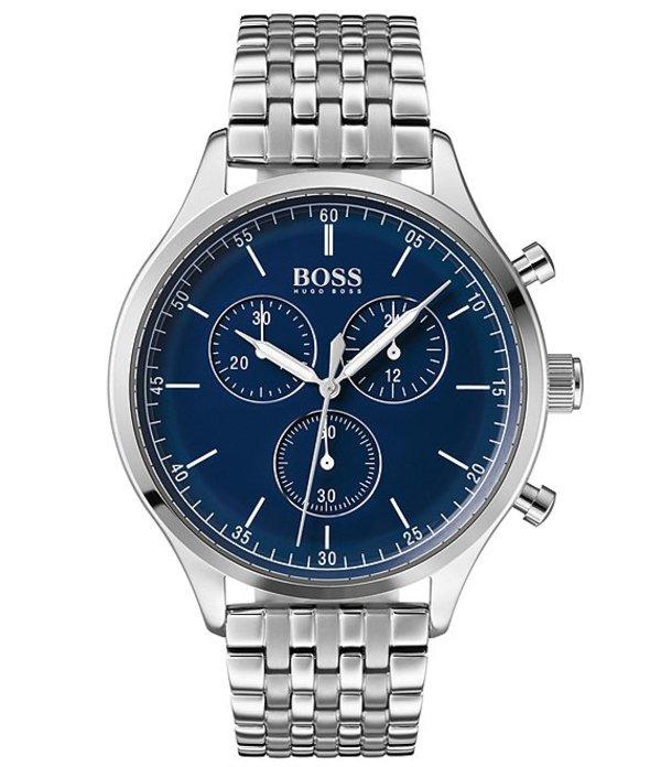 ヒューゴボス メンズ 腕時計 アクセサリー BOSS Hugo Boss Companion Bracelet Watch Silver