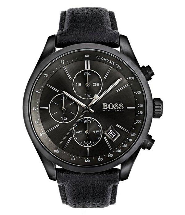 ヒューゴボス メンズ 腕時計 アクセサリー BOSS Hugo Boss Grand Prix Watch Black