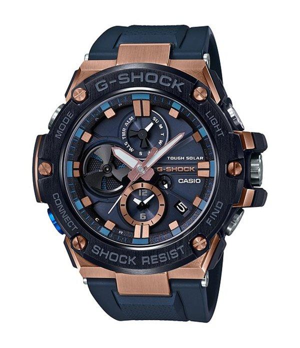 ジーショック メンズ 腕時計 アクセサリー G-Steel Analog Shock Resistant Watch Navy