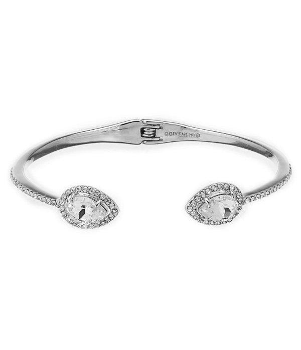 ジバンシー レディース ブレスレット・バングル・アンクレット アクセサリー Pave Pear Cuff Bracelet Silver