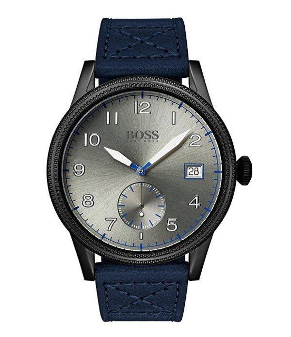 ヒューゴボス メンズ 腕時計 アクセサリー BOSS Hugo Boss Legacy Black IP Watch Black