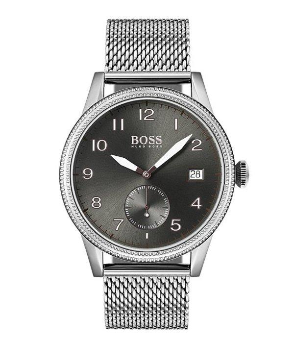 ヒューゴボス メンズ 腕時計 アクセサリー BOSS Hugo Boss Legacy Watch Silver