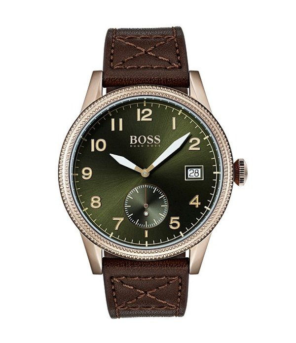ヒューゴボス メンズ 腕時計 アクセサリー Boss Hugo Boss The Legacy Collection Brown Leather Watch Brown