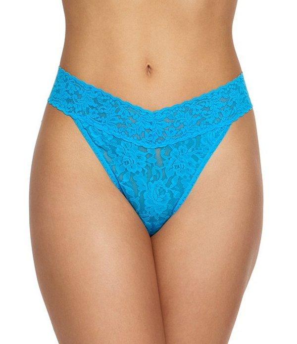 ハンキーパンキー レディース パンツ アンダーウェア Signature Lace Original Rise Thong Fiji Blue