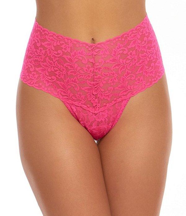 ハンキーパンキー レディース パンツ アンダーウェア Signature Lace Retro Thong Flamboyant Pink