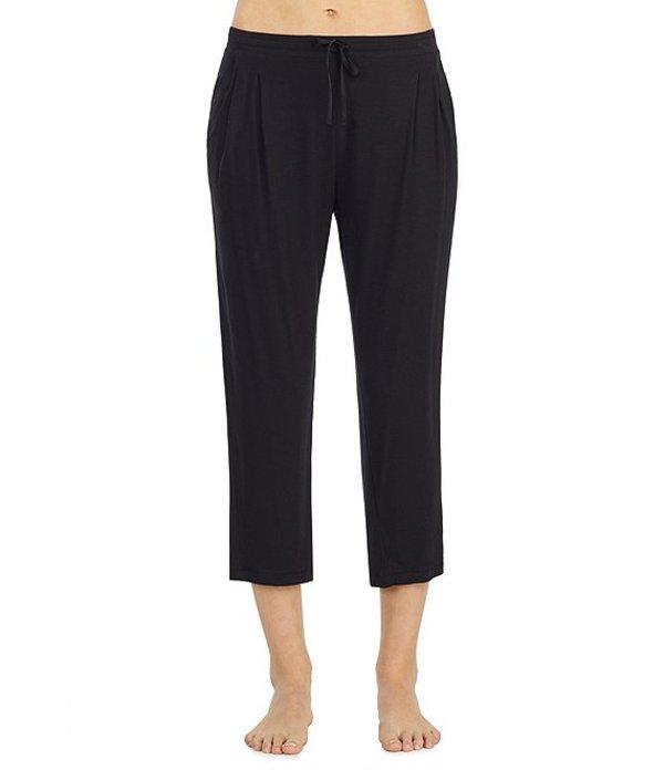 ダナキャラン レディース カジュアルパンツ ボトムス Jersey Knit Capri Sleep Pants Black