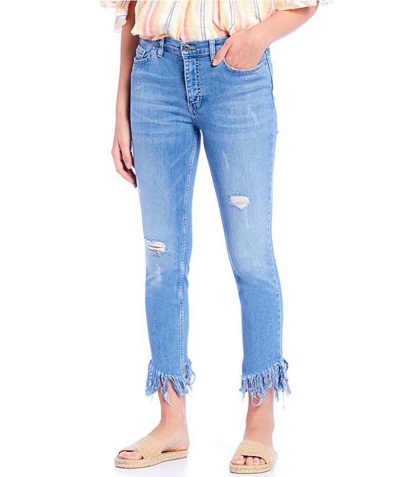 フリーピープル レディース デニムパンツ ボトムス Great Heights Frayed Hem Skinny Jeans Turquoise