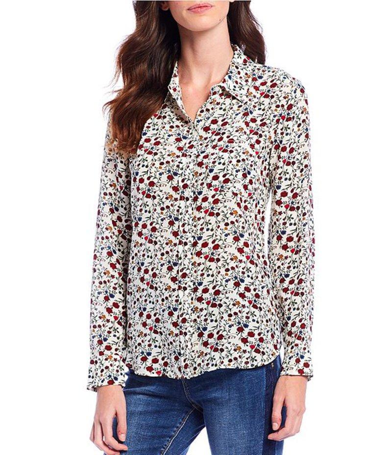エーラブズエー レディース シャツ トップス Silk Floral Print Button Front Shirt Multi