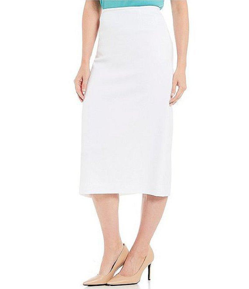 プレストンアンドヨーク レディース スカート ボトムス Taylor Stretch Crepe Suiting Pencil Midi Skirt White