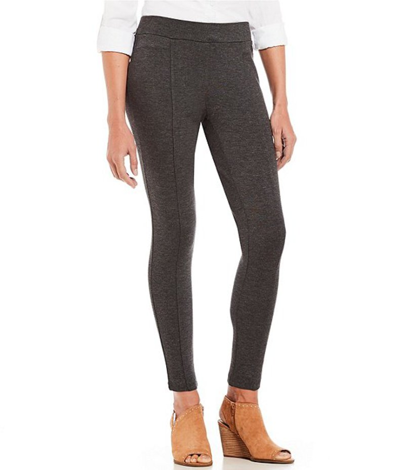 イントロ レディース カジュアルパンツ ボトムス Petite Size Bella Solid Double Knit Slim Her Leggings Charcoal Heather