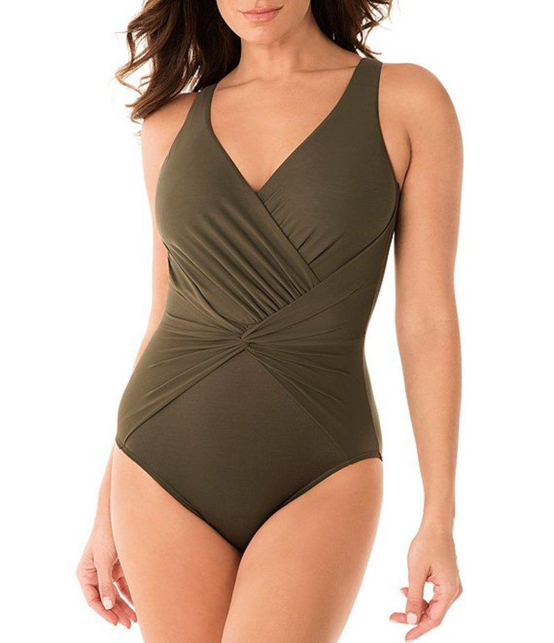 ミラクルスーツ レディース ワンピース トップス Rock Solid Twister Body Shaping One Piece Swimsuit Olivetta Green