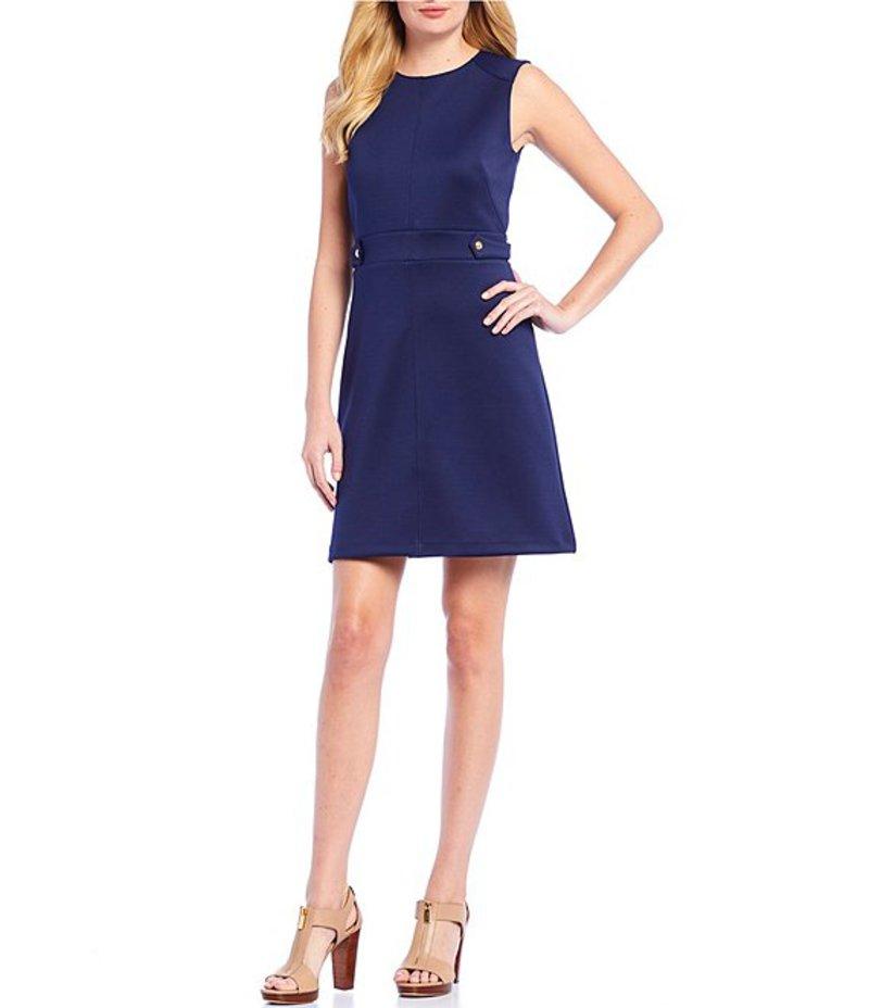 マイケルコース レディース ワンピース トップス Scuba Crepe A-Line Hardware Detail Sleeveless Dress True Navy